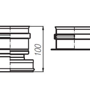 Zestaw przyłączeniowy rozdzielony (fi60/100-80+80) Beretta 20035051