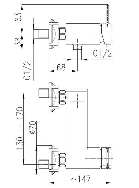 Bateria BRYLANT natryskowa KFA 4306-010-00