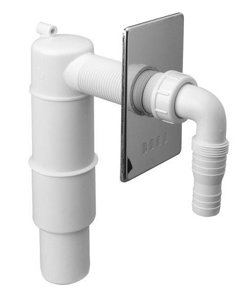 Przyłącze do pralki lub zmywarki podtynkowe z zasyfonowaniem z odejściem 50mm ,maskownica chrom [30] (syfon) Mc Alpine HCWM50