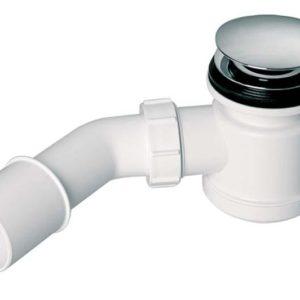 """Syfon brodzikowy """"klik-klak"""" z odejściem 40/50mm czyszczony od góry ,pokrywa mosiądz chrom 70mm [40] Mc Alpine HC26CLCP"""