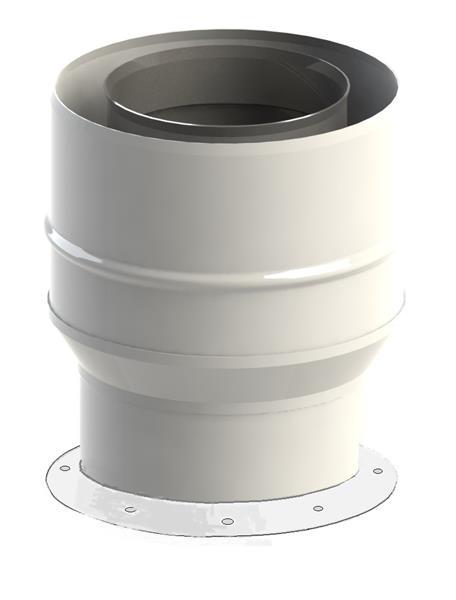 Adapter 60/100-80/125 do kotła Saunier Duval Jeremias TWIN1821202080125