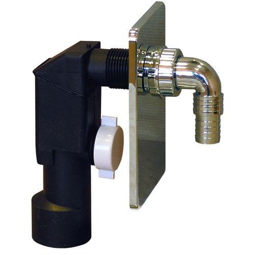 Syfon do podłączenia pralki fi 50 podtynkowy chromowany [20/op] Rawiplast A603M50