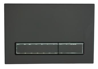 Przycisk do stelaża podtynkowego M08 V1 czarny mat/czarny mat KK-POL SPP/091/0/K