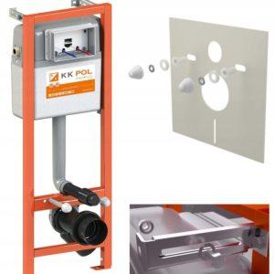 Stelaż podtynkowy do WC Aquafiori Economic KK-POL ZSP/M400/0/K + MATA +FRESH
