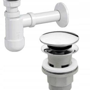 Zestaw spust klik- klak oraz syfon umywalkowy 32